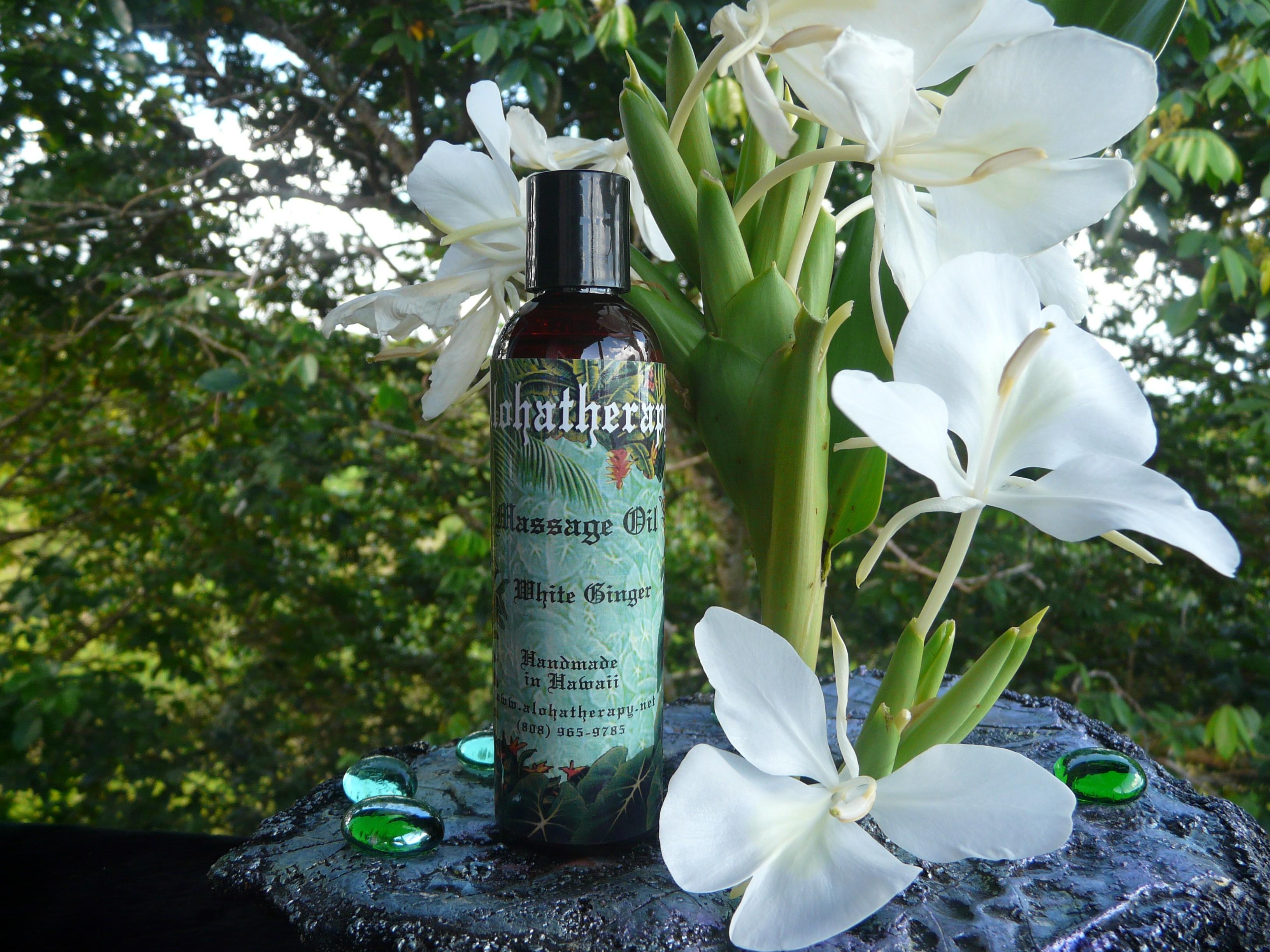 Fresh Ginger Massage Oil Bath Body Oil Alohatherapy